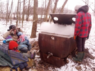 Final boiling of sap
