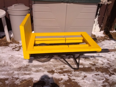 bumble bee wheel barrow