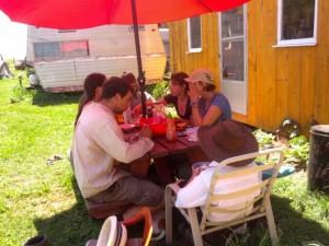 interns eating
