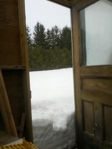 snow in the door